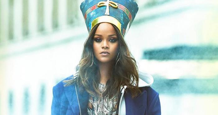 Rihanna-Vogue Arabia - Runway Square - Misho Design Earrings